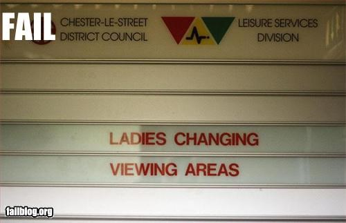 dressing room g rated ladies peeping tom signs view - 2680756992