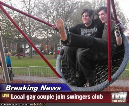 Gay couple swingers