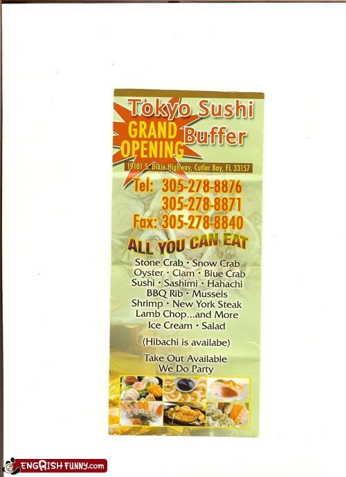 buffet g rated menu restaurant sushi take out