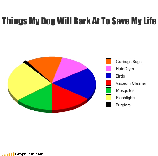 bags,bark,birds,burglar,dogs,flashlight,garbage,hair dryer,life,mosquitos,Pie Chart,save,vacuums