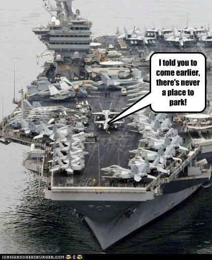 aircraft carrier airplanes flying military navy parking - 2686822912