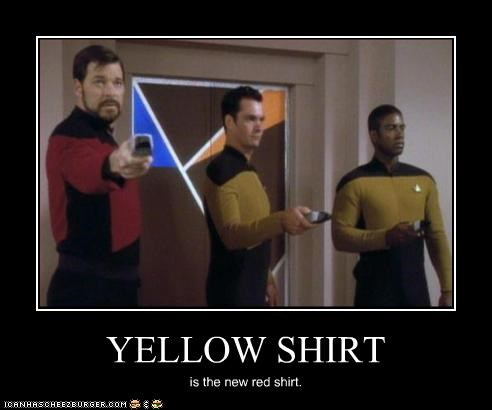 YELLOW SHIRT is the new red shirt.