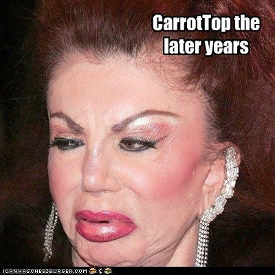 carrot top,celebrity mothers,jackie stallone,plastic surgery