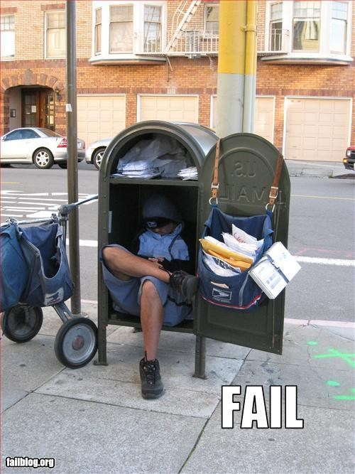 delivery g rated inside mail mailbox mailman sitting - 2689992960