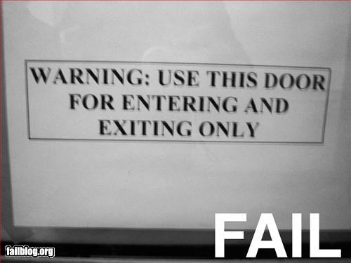 door,enter,exit,g rated,only,signs,warning