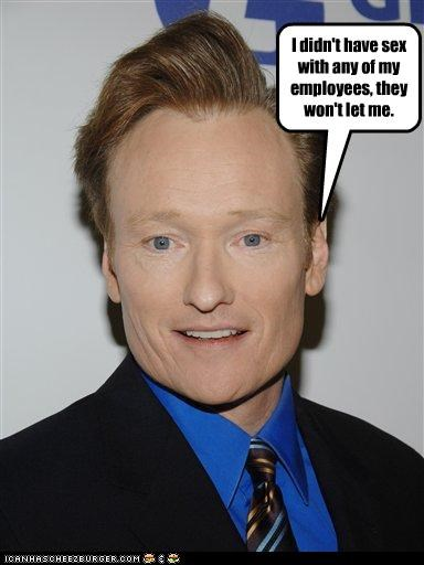 affairs,conan obrien,employees,host,sex,talk shows