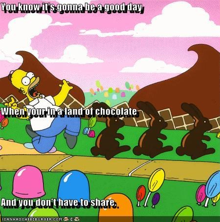 animation cartoons chocolate homer simpson the simpsons - 2692071680