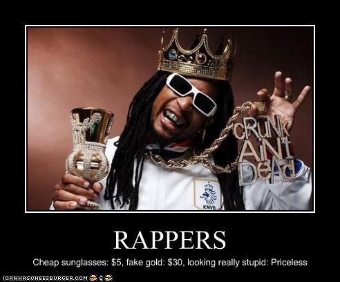crunk fake gold lil jon rapper stupid sunglasses - 2692414208