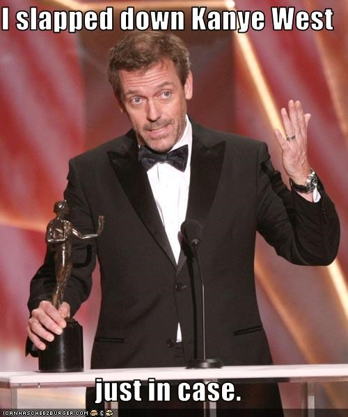 award shows,baftas,House MD,hugh laurie,kanye west,Music,sexy Brits
