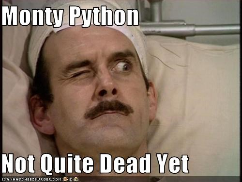 Monty Python Not Quite Dead Yet Cheezburger Funny Memes Funny