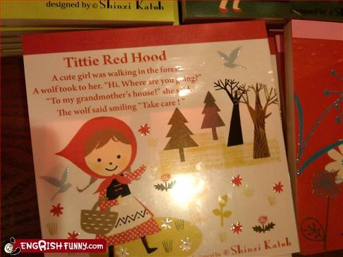 fairy tales Little Red Riding Hood notebook smile tits wolf - 2694785792