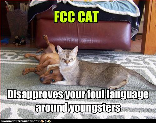FCC CAT Disapproves your foul language around youngsters