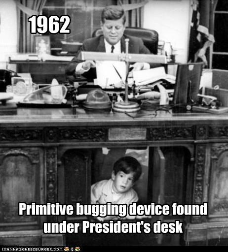 bugging,democrats,Historical,john-f-kennedy,john-f-kennedy-jr,Oval Office,president,resolute desk