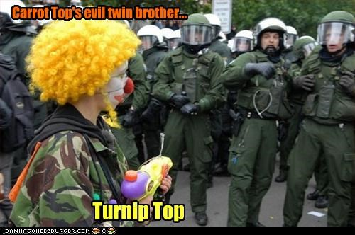 Carrot Top's evil twin brother... Turnip Top