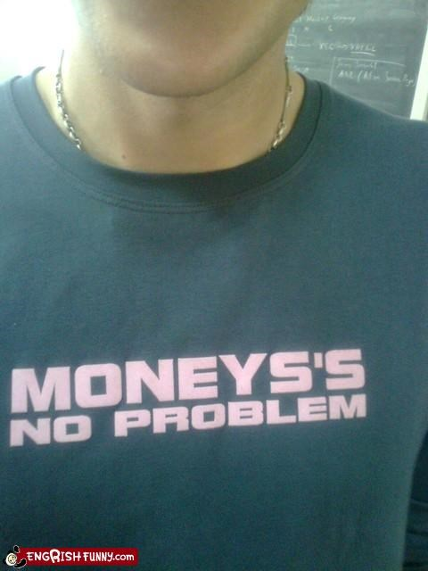 clothing g rated money problem T.Shirt - 2696821760