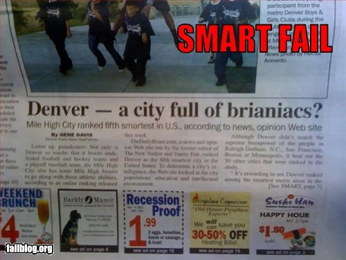 brain g rated headline misspelling newspaper smart - 2697062144