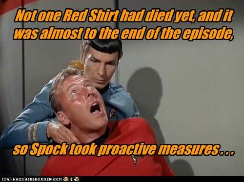 classic tv Leonard Nimoy red shirts sci fi Spock Star Trek TV - 2698415616