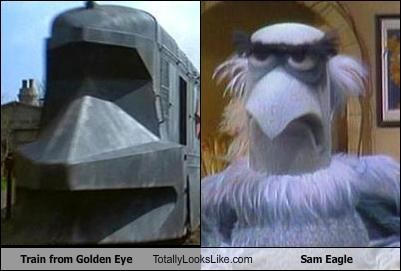 goldeneye james bond Sam the Eagle the muppets train - 2702923520