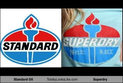 logos,standard oil,superdry,torch