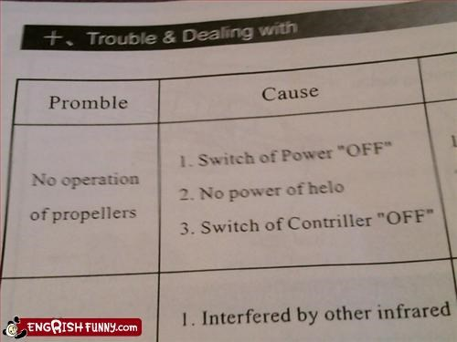 g rated instructions off power problem propeller switch trouble troubleshooting - 2706860544