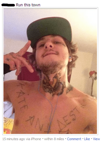 facebook watch out weve got a badass over here selfie wannabe gangsta - 270853