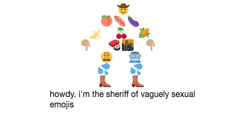 twitter account bot sheriff made of emojis