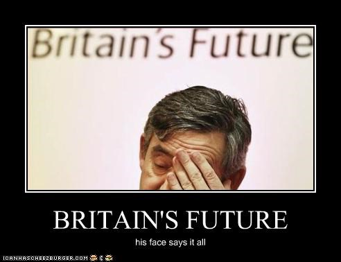BRITAIN'S FUTURE his face says it all