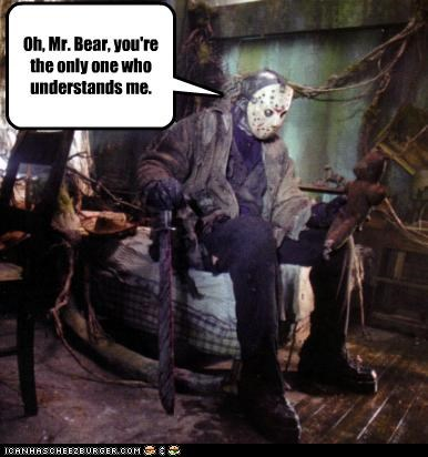 friday the 13th,horror,jason voorhees,movies,teddy bear