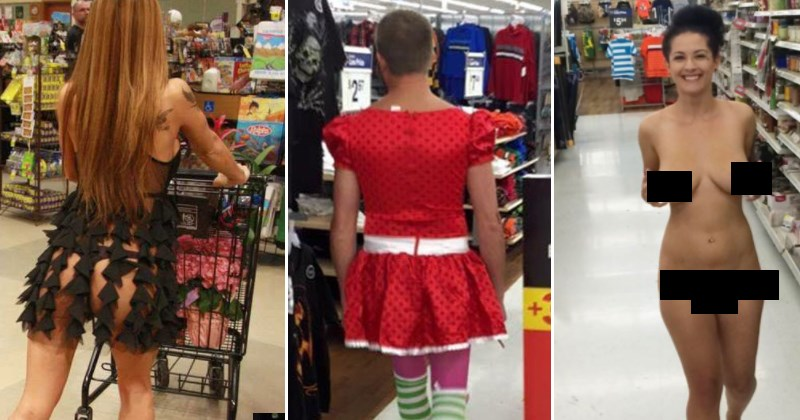 Collection of weird and crazy people that you're likely to run into while shopping at Walmart.