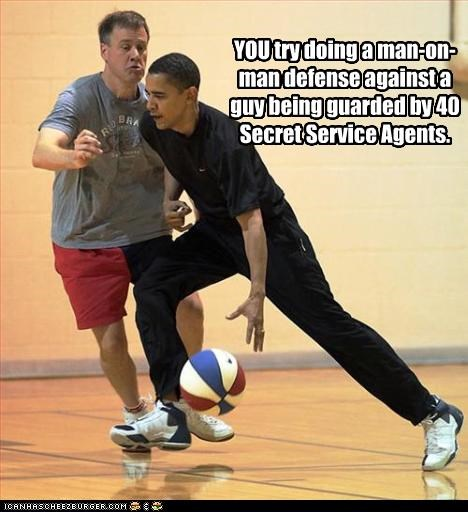 barack obama,basketball,democrats,guards,president,secret service,sports