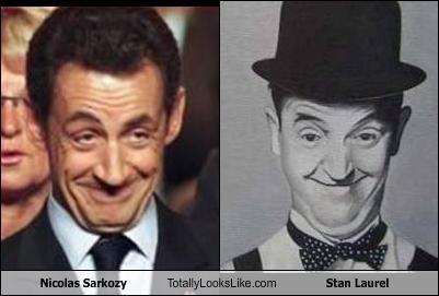 comedians,france,Nicolas Sarkozy,president,stan laurel