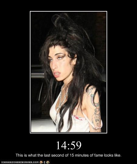 15 minutes of fame,amy winehouse,drugslots-and-lots-of-drugs,Music,singer