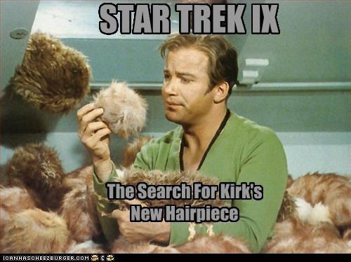 bad hair Captain Kirk sci fi Star Trek wigs William Shatner - 2727318528