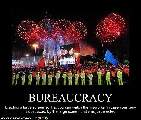 bureaucracy China fireworks olympics