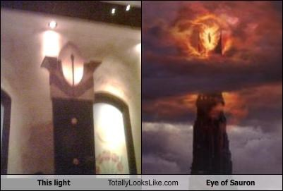 Eye of Sauron jrr-tolkein lamp light Lord of the Rings