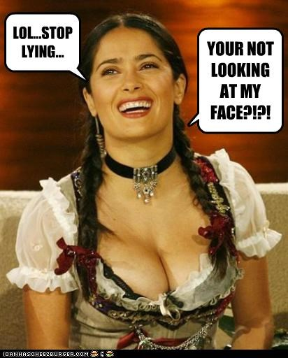 LOL...STOP LYING... YOUR NOT LOOKING AT MY FACE?!?!