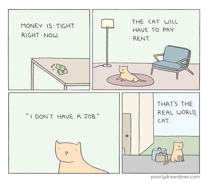 comics of animals revealing their human like problems