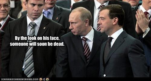 angry,dead,Dmitry Medvedev,kill,Vladimir Putin,vladurday