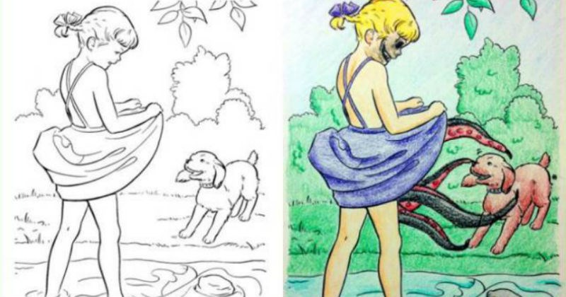 Amazing and Extremely Questionable Takes on Children's Coloring Books