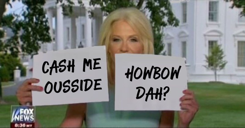 Collection of Kellyann Conway collusion illusion delusion photoshop memes.
