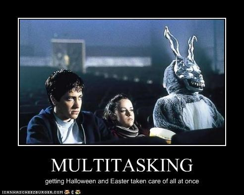 donnie darko,easter,halloween,jake gyllenhaal,james duval,Jena Malone