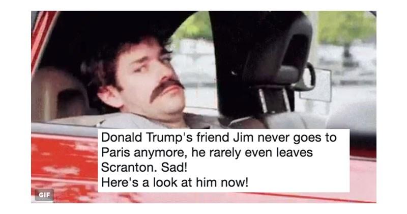 List of memes about Donald Trump's imaginary friend Jim.