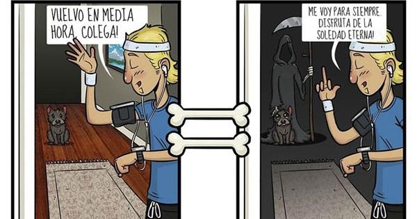 comics estar en perro