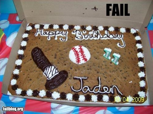 baseball bat birthday cake cookies decoration phallic