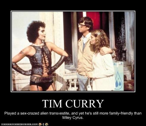 Barry Bostwick,family friendly,miley cyrus,susan sarandon,The Rocky Horror Picture Show,tim curry