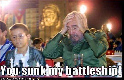 battleship,communism,cuba,dictator,Fidel Castro,games
