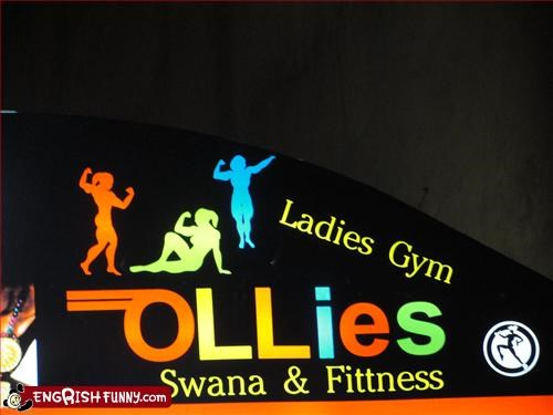 fitness,g rated,gym,ladies,sauna,signs