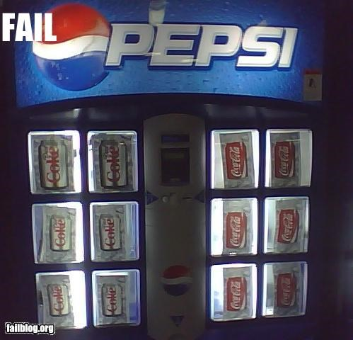 coke g rated mislabel pepsi soda vending machine - 2766470912