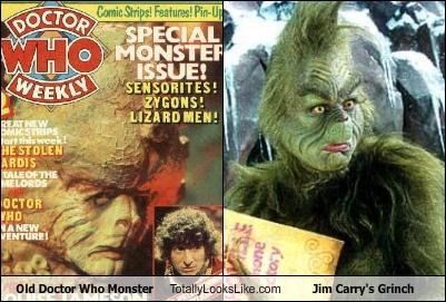 Old Doctor Who Monster Totally Looks Like Jim Carry\'s Grinch