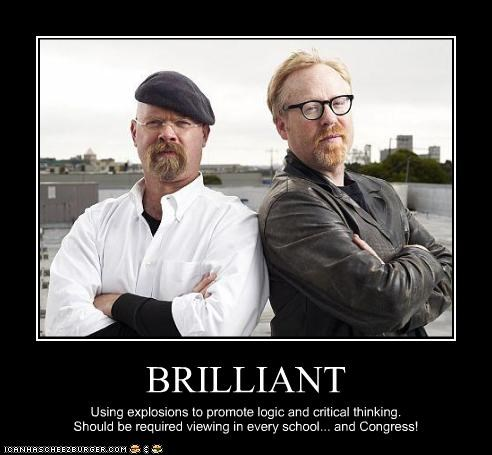 adam savage,brilliant,jamie hyneman,mythbusters